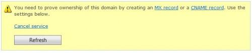 Windows Live Admin Center - step 4