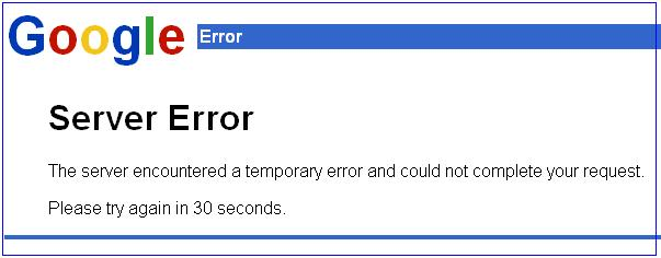Google Error 502